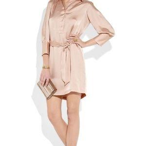 Halston Heritage Silk Shirt Dress